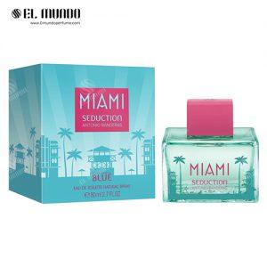 عطر ادکلن زنانه آنتونیو باندراس بلو میامی سداکشن ادو تویلت ۸۰میل Miami Seduction