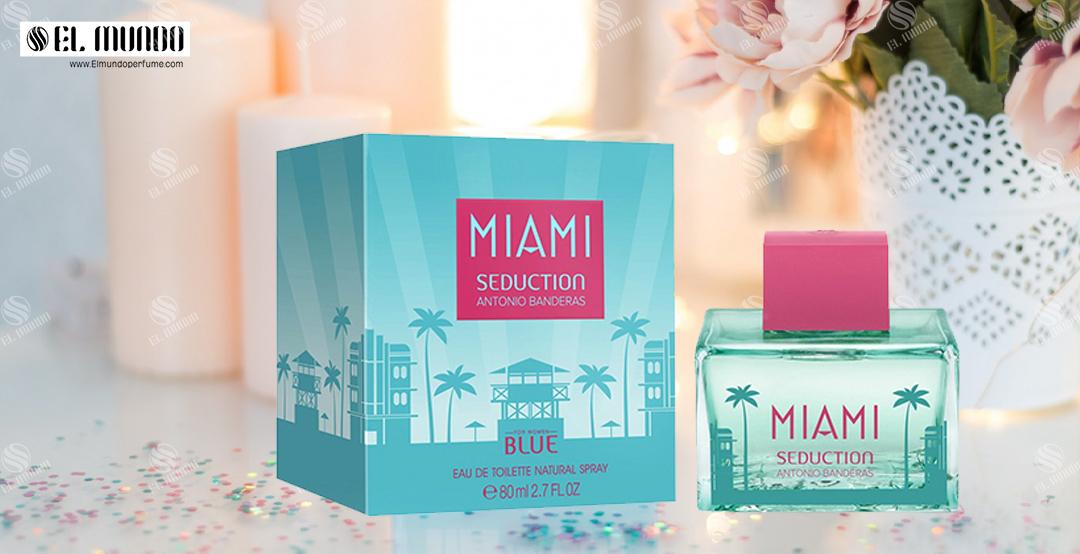 Miami Seduction For Women 80ml - عطر ادکلن زنانه آنتونیو باندراس بلو میامی سداکشن ادو تویلت ۸۰میل Miami Seduction