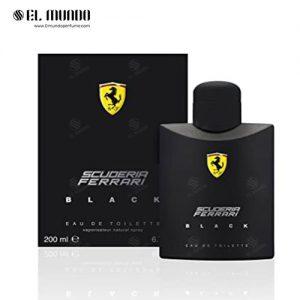عطر ادکلن مردانه فراری مشکی-اسکودریا بلک ادوتویلت ۲۰۰ میل Scuderia Ferrari Black