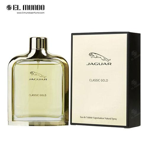 عطر ادکلن مردانه جگوار کلاسیک گلد-طلایی ادوتویلت ۱۰۰ میل Jaguar Classic Gold