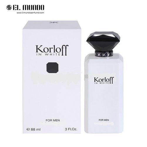 عطر ادکلن مردانه کورلوف پاریس سفید ادوتویلت ۸۸ میل Korloff In White Korloff Paris for men