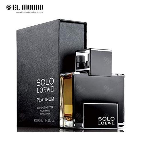 عطر ادکلن مردانه لوئو-لوئوه سولو پلاتینیوم (سولو لوئو پلاتینیوم) ادوتویلت ۱۰۰ میل Solo Loewe Platinum