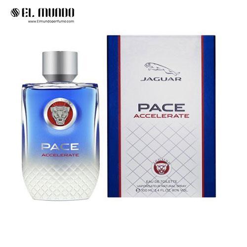 عطر ادکلن مردانه جگوار پیس اکسلرت ادوتویلت ۱۰۰ میل Pace Accelerate Jaguar