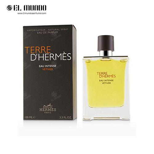عطر ادکلن مردانه هرمس آمبر مرولیس ادوپرفیوم ۱۰۰ میل Terre D'Hermes Eau Intense Vetiver