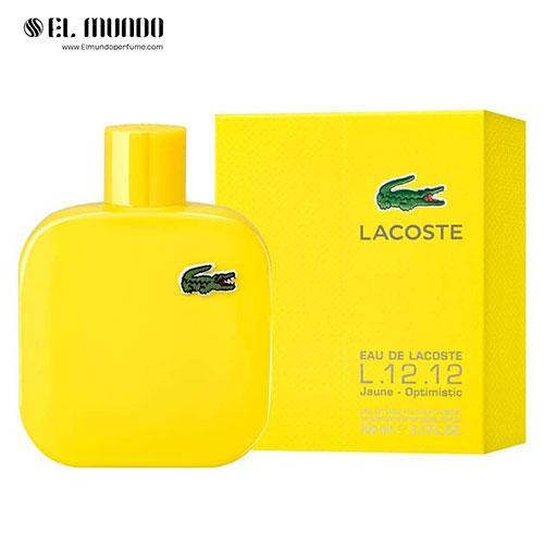 عطر ادکلن مردانه لاگوست یلو – زرد ادوتویلت ۱۰۰ میل Eau de Lacoste L.12.12 Yellow (Jaune)