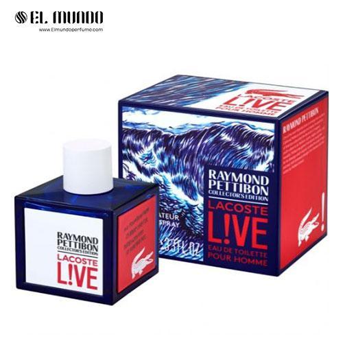 عطر ادکلن لاگوست لایو ریموند پتیبون کالکتور ادیشن ادوتویلت ۱۰۰ میل Lacoste Live Raymond Pettibon collector's edition