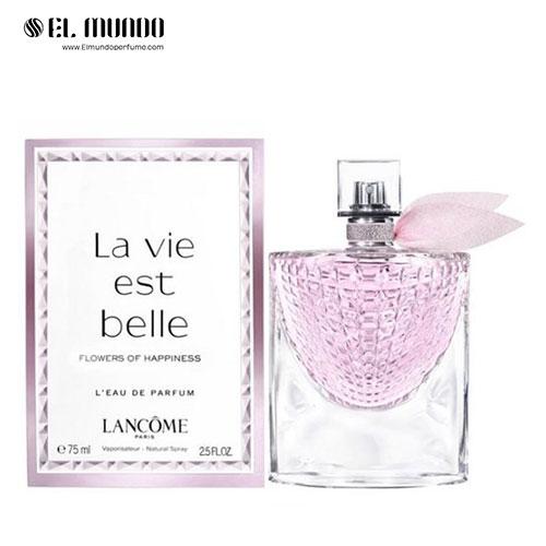 عطر ادکلن زنانه لانکوم لا ویه است بله فلاورز آف هپینس ادوپرفیوم ۷۵ میل La Vie Est Belle Flowers of Happiness