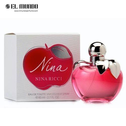 عطر ادکلن زنانه نیناریچی نینا سیب ادوتویلت ۸۰ میل Nina Nina Ricci for women