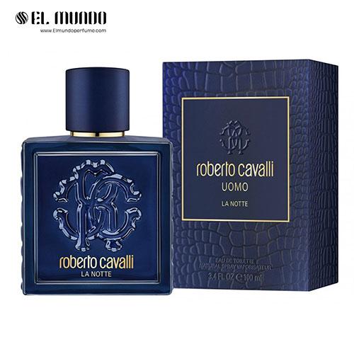 عطر ادکلن مردانه روبرتو کاوالی اومو (یومو) لا نوت ادوتویلت ۱۰۰ میل Roberto Cavalli Uomo La Notte