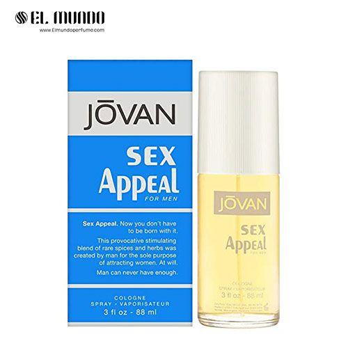 عطر ادکلن مردانه جوان اپیل-آبی ادوتویلت ۸۸ میل Sex Appeal Jovan for men