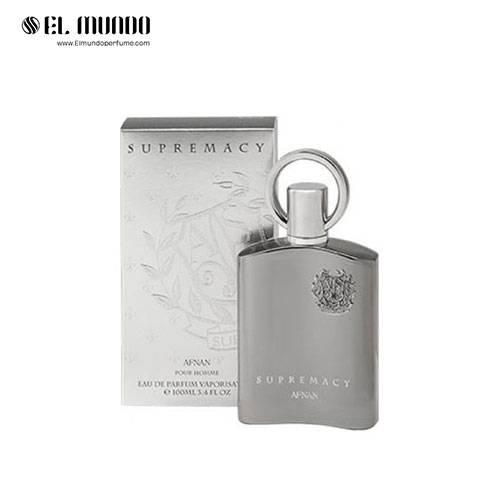 عطر ادکلن مردانه افنان سوپر ماسی سیلور ادوپرفیوم ۱۰۰ میل Supremacy Silver Afnan Perfumes