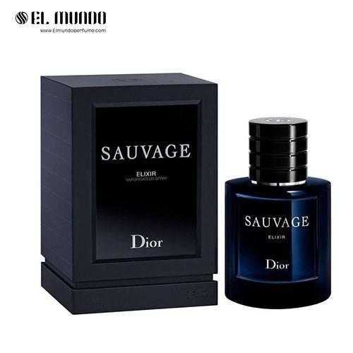 عطر ادکلن مردانه دیور ساوج (ساواج) الکسیر ادوپرفیوم ۶۰ میل Sauvage Elixir Dior