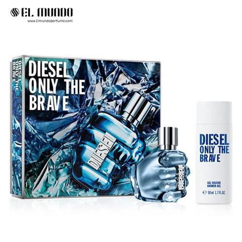 ست هدیه عطر و ادکلن مردانه دیزل آنلی د بریو (دیزل مشتی) ادوتویلت ۷۵ میل Only The Brave Diesel