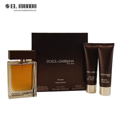 ست هدیه عطر ادکلن مردانه دولچه اند گابانا د وان ادوتویلت ۱۰۰ میل Gift Set Dolce&Gabbana The One