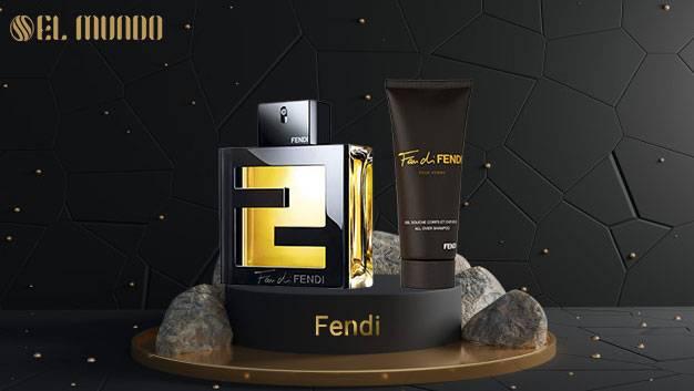 Fan di Fendi pour Homme Fendi for men 100ML 6 - ست عطر ادکلن مردانه فَندی فندی پور هوم ادوتویلت 10۰ میل Gi sft Set Fan di Fendi pour Homme Fendi