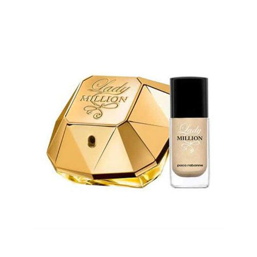ست هدیه عطر ادکلن زنانه پاکو رابان لیدی میلیون ادوپرفیوم ۵۰ میل Lady Million Paco Rabanne Gift Set