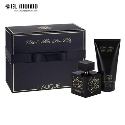 ست هدیه عطر ادکلن زنانه لالیک مشکی – انکر نویر پور اله ادوپرفیوم ۱۰۰ میل Encre Noire Pour Elle Lalique Gift Set