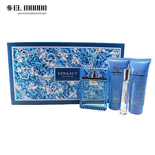 ست هدیه عطر ادکلن مردانه ورساچه او فرش ادوتویلت ۱۰۰ میل Versace Eau Fraiche Gift Set